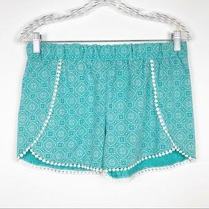 Catherine Malandrino Crochet Trim Pajama Short M